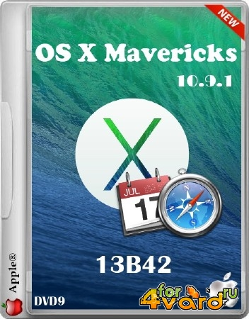 OS X Mavericks DVD9 v.10.9.1 13B42 (2014/RUS/ENG)