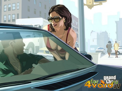 Grand Theft Auto IV in style GTA V (1.0.4.0) (2008/Rus/Eng/Multi5/PC) Repack от JohnMc