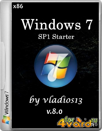Windows 7 SP1 Starter x86 v8.0 by vladios13 (2014/RUS)