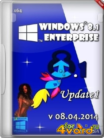 Windows 8.1 Enterprise Update1 by ALEX v08.04.2014 (x64/RUS/2014)